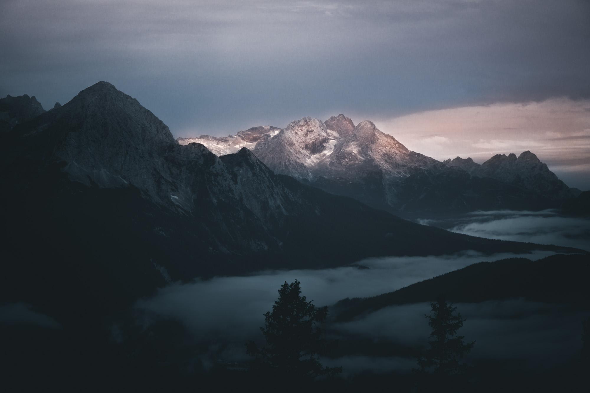 Ausblick über Karwenelgebirge