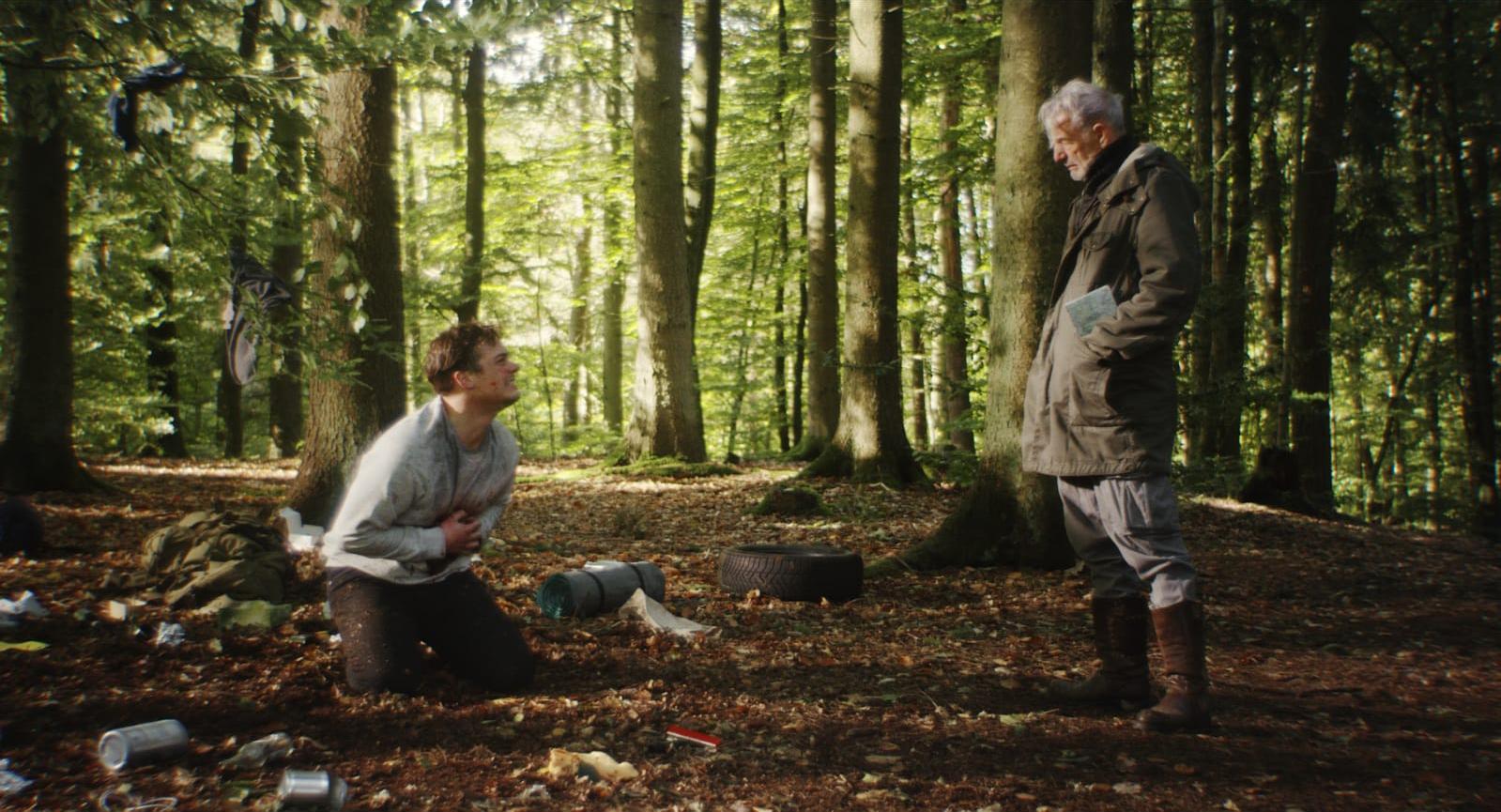 "Still from the short film ""Wegweiser"" Nick in the Forrest"