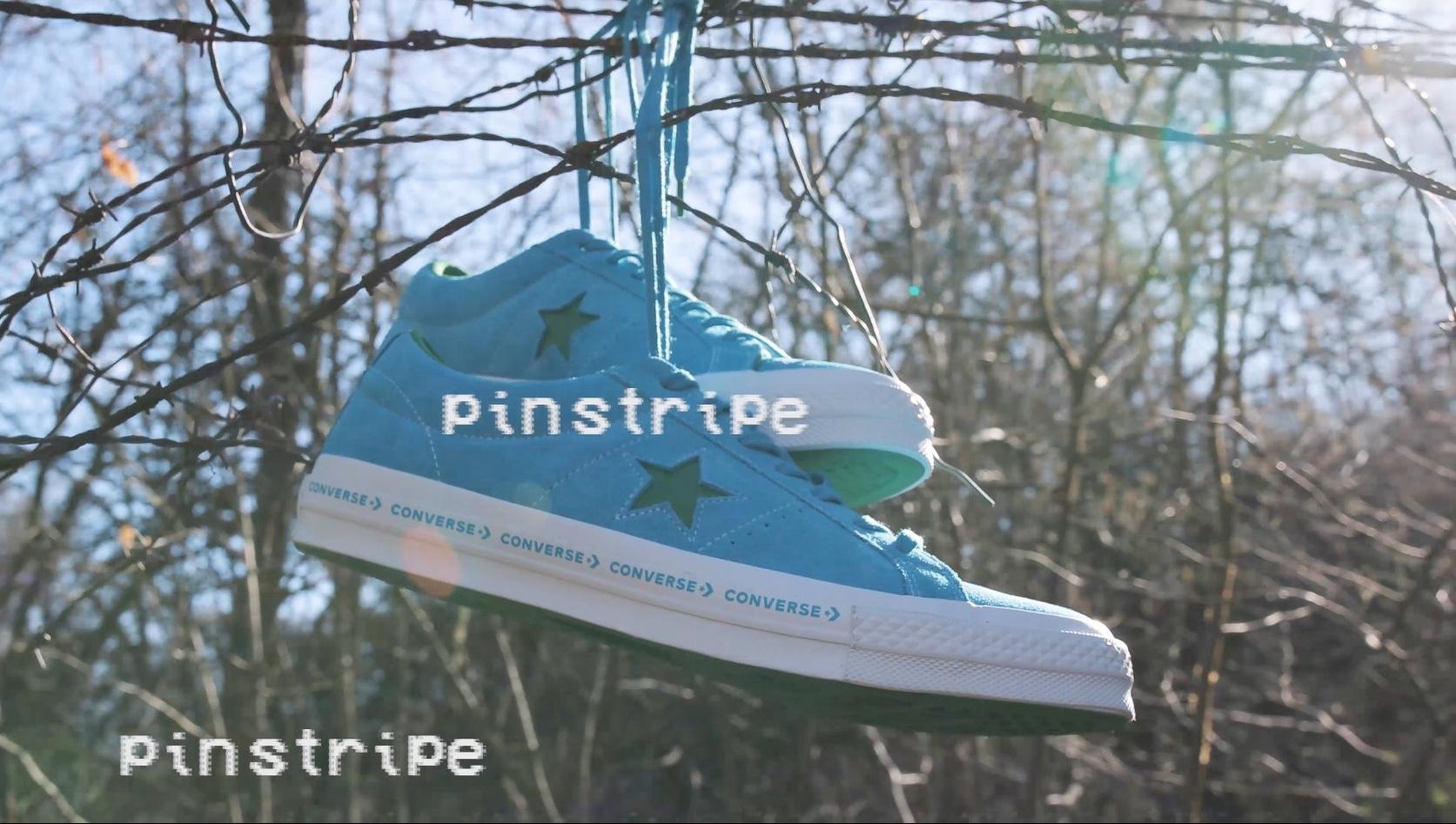 Converse Schuhe aufgehängt