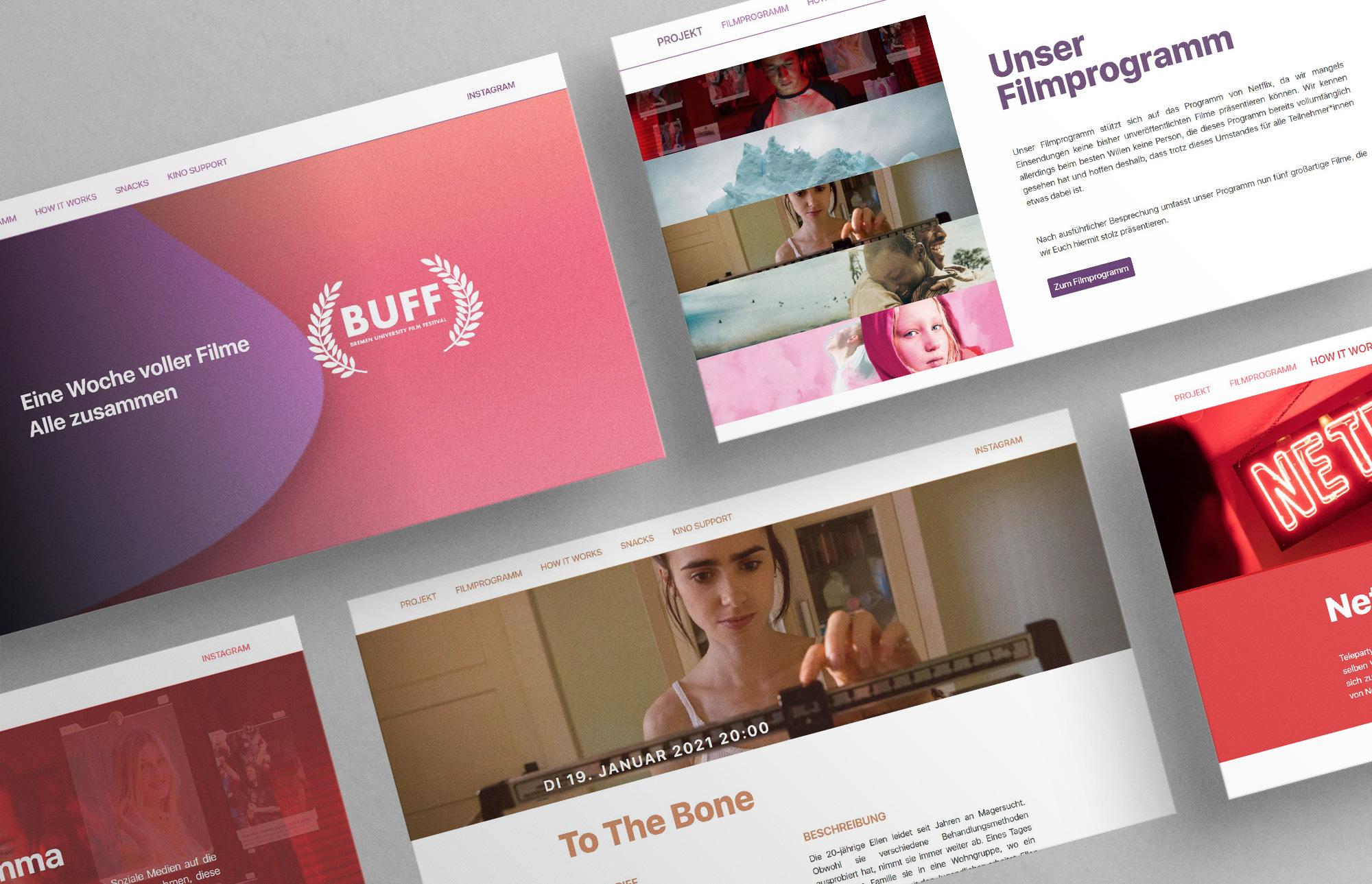 Bremen University Film Festival Website Overview Montage