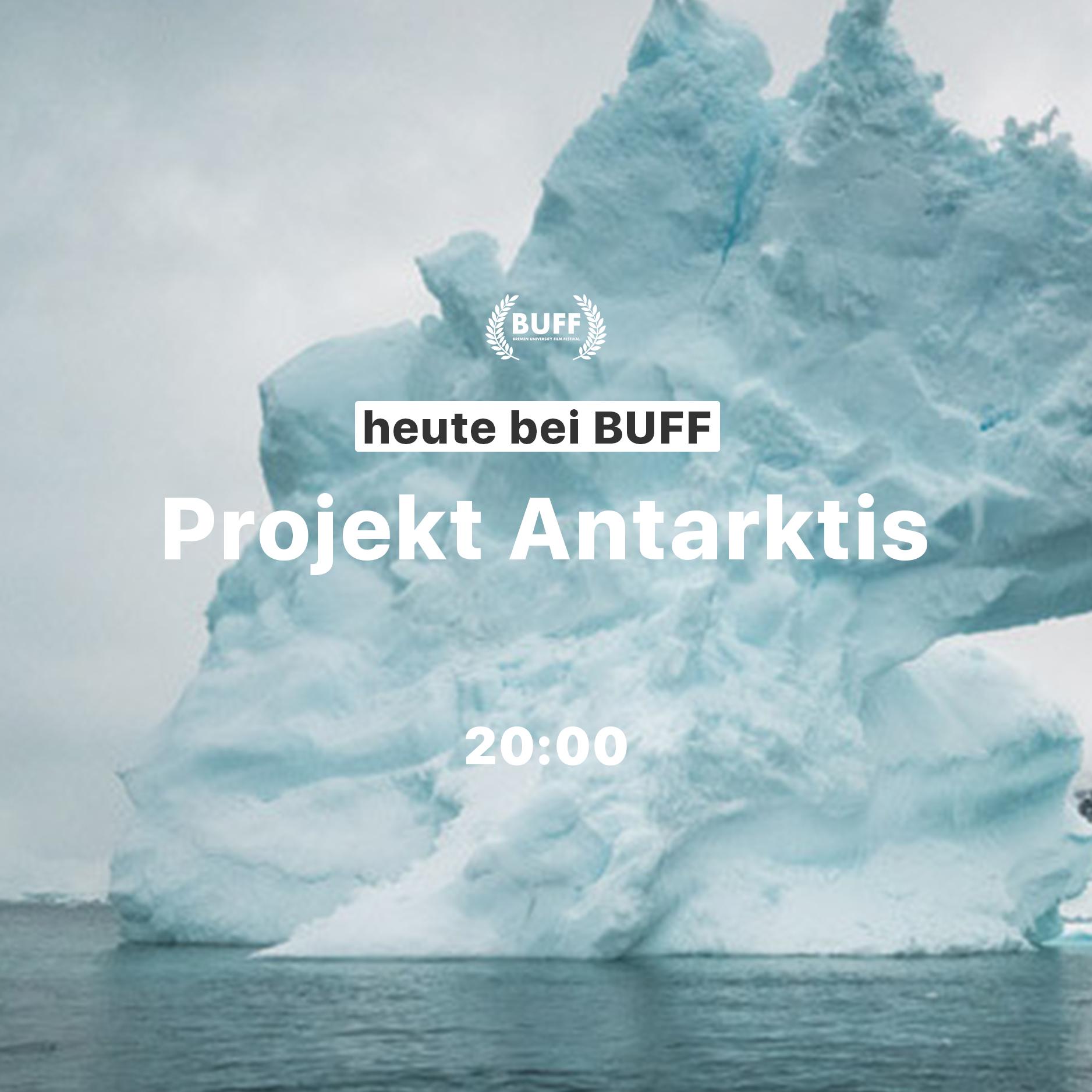 """advertising Post for Movie """"Projekt: Antarktis"""" on Bremen University Film Festival"""