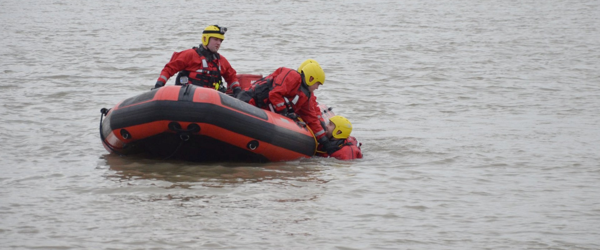 Warrior Fire & Rescue Service safety boat and water rescue photograph