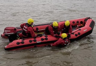 Warrior Fire & Rescue Service safety boat