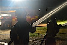 Warrior Fire & Rescue Service night time jets