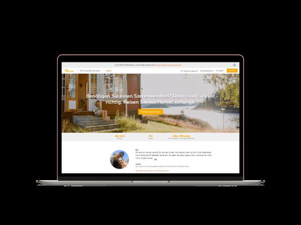 Screenshot Startseite Projekt