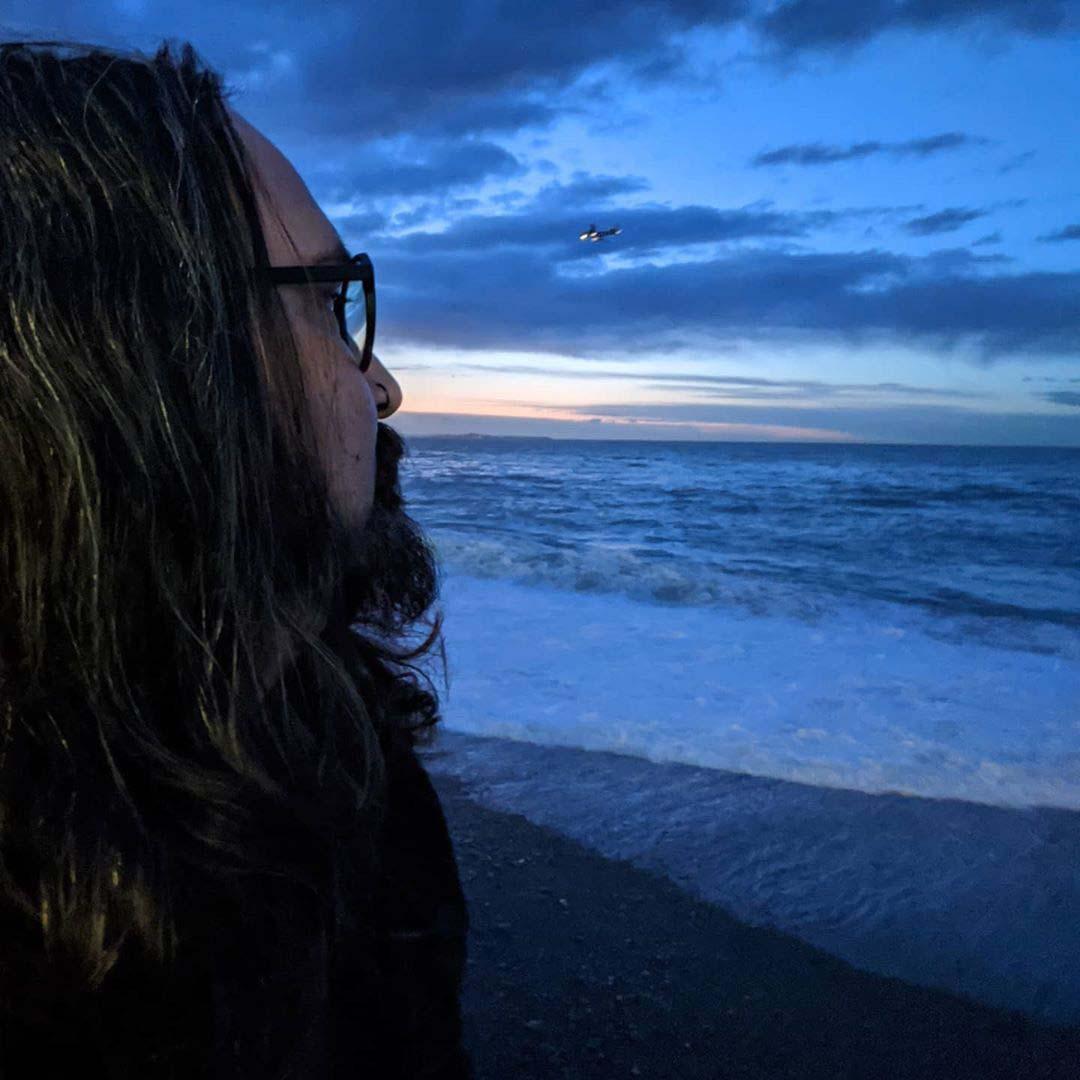 Photo of Nicholas Ryan Howard watching the sunset