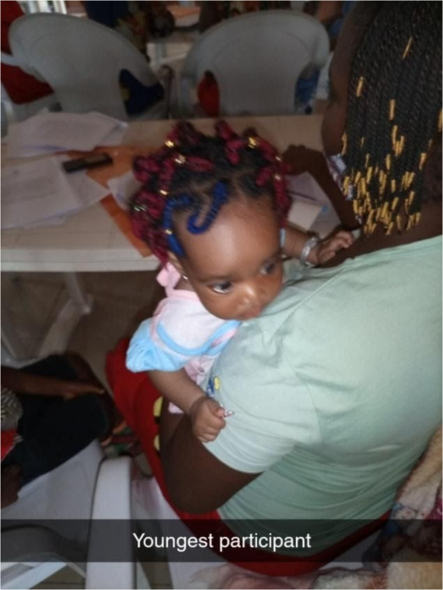 The youngest participant in an initiative.