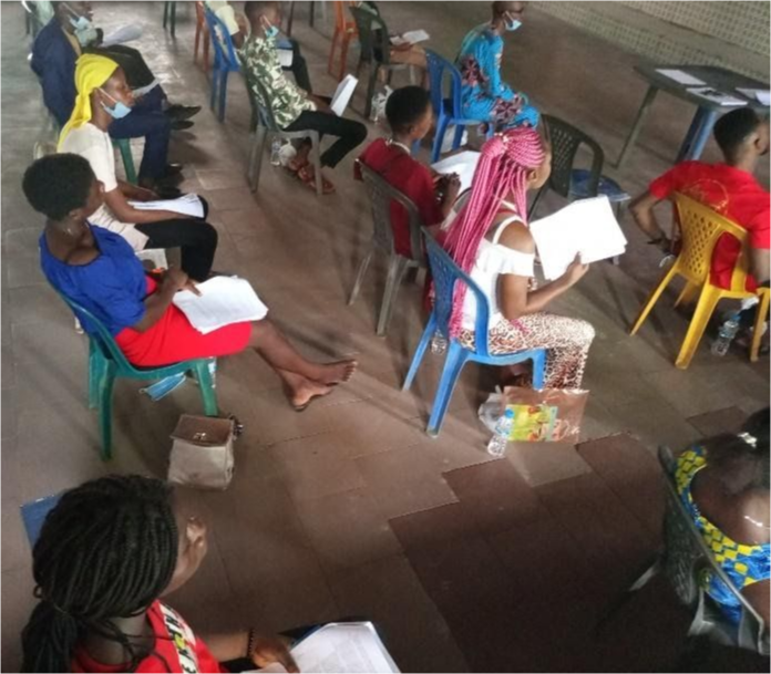 Teachers participating in capacity training.