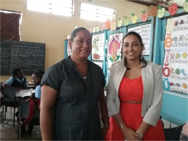 Two teachers in Guyana