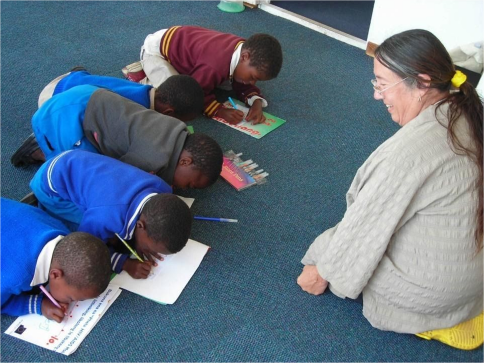 Jon Morales working with the Basuto children of Lesotho