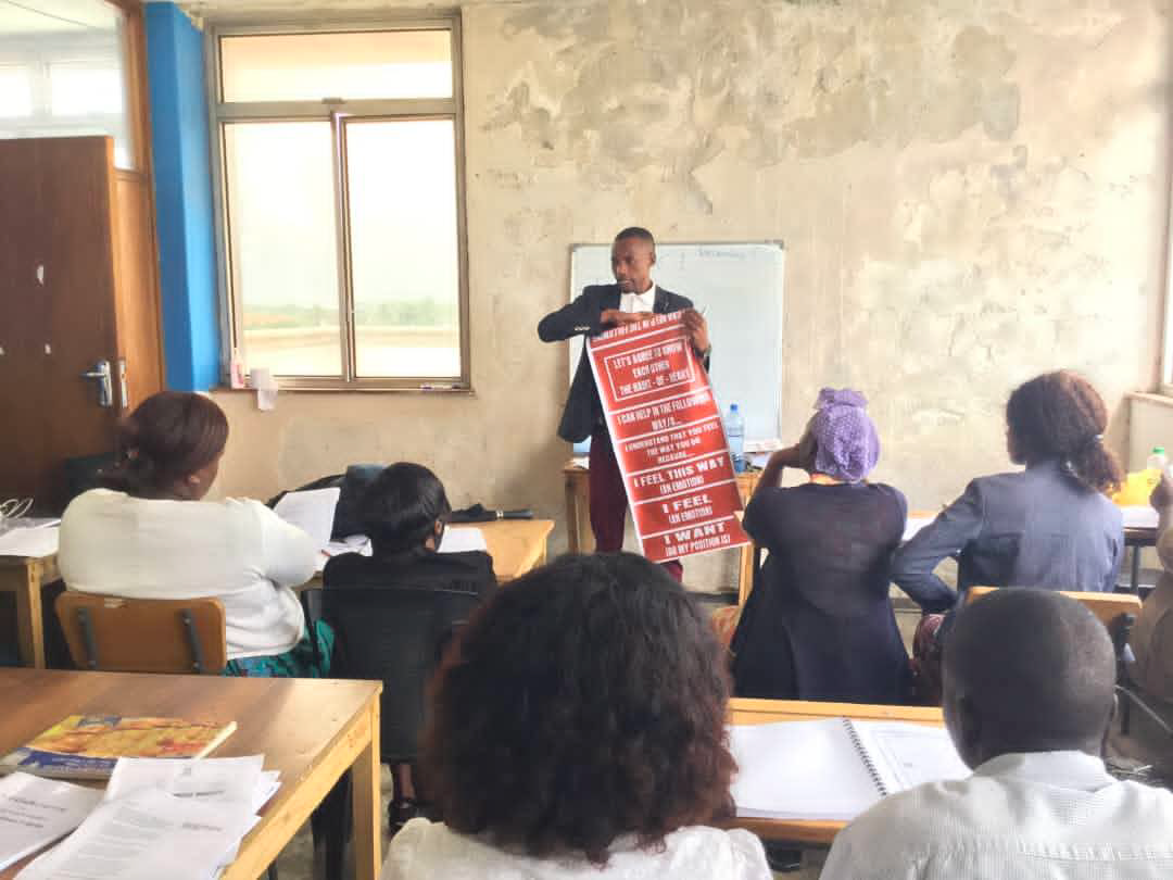 Eric Muleya teaching teachers in Zambia