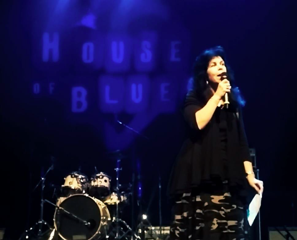 Marisol on stage at the house of blues.