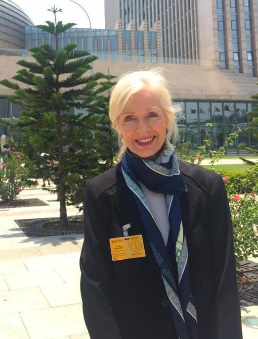 Teresa Langness in China.