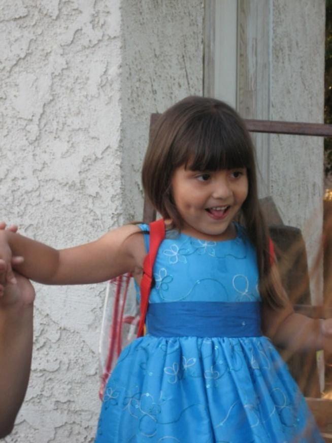 Jessica as a preschooler.