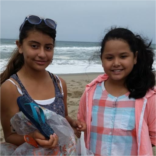 Jessica and her friend at the beach.
