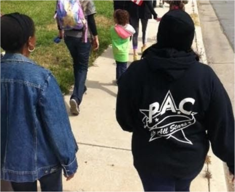 Students on the walk.