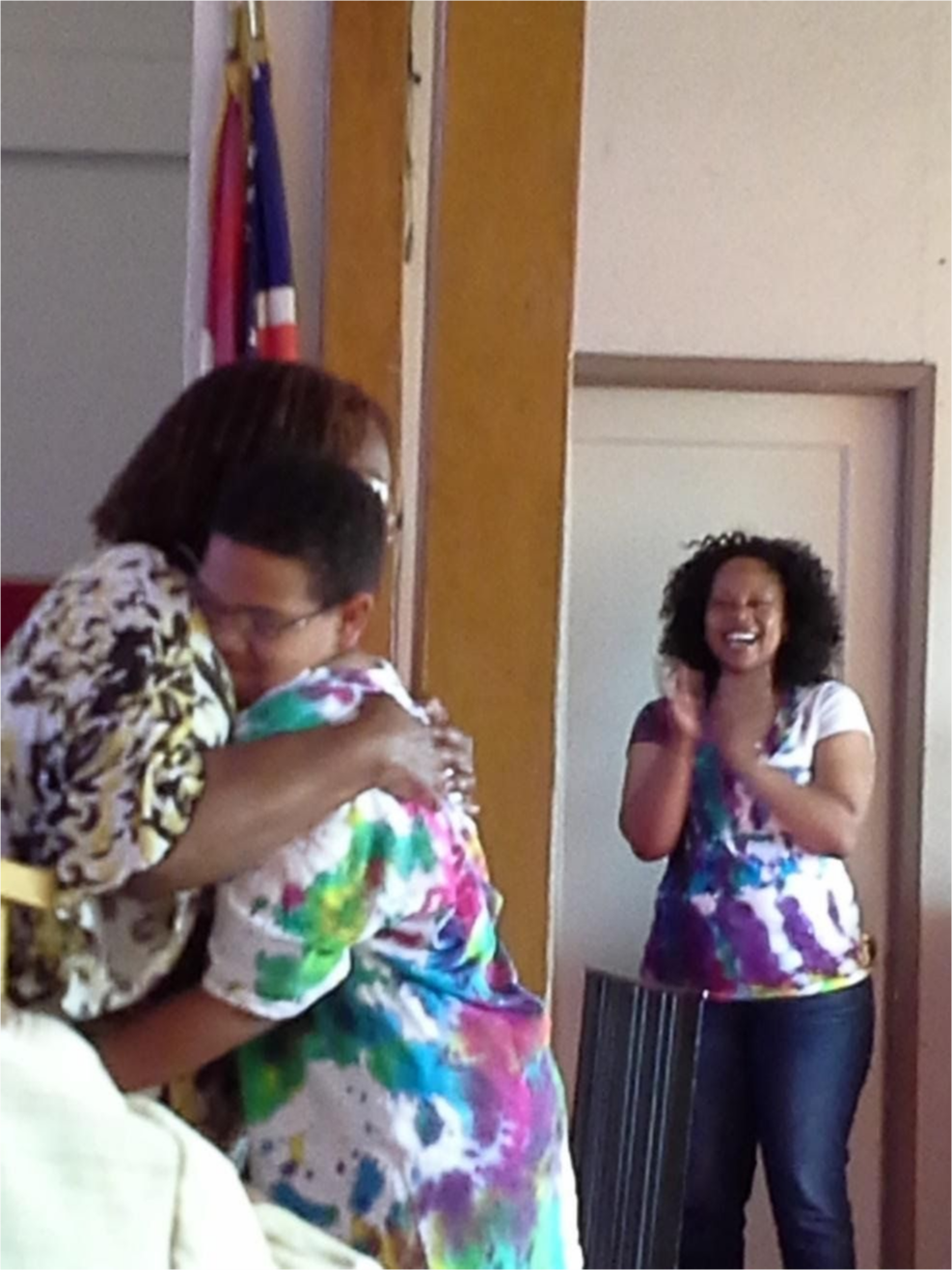 A student receives encouragement from Teachers.