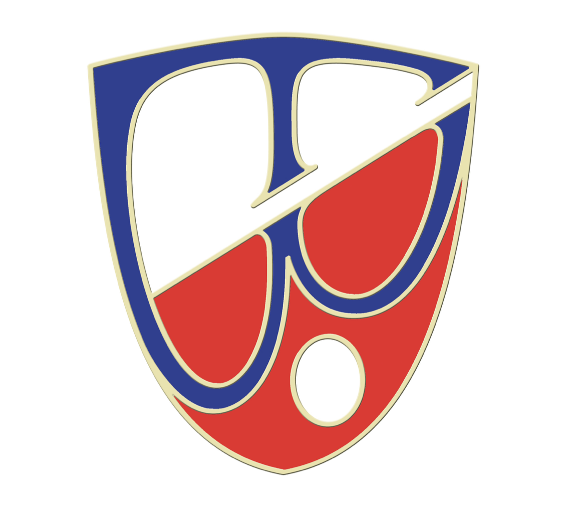 The red and blue logo for Towson Watch Company.