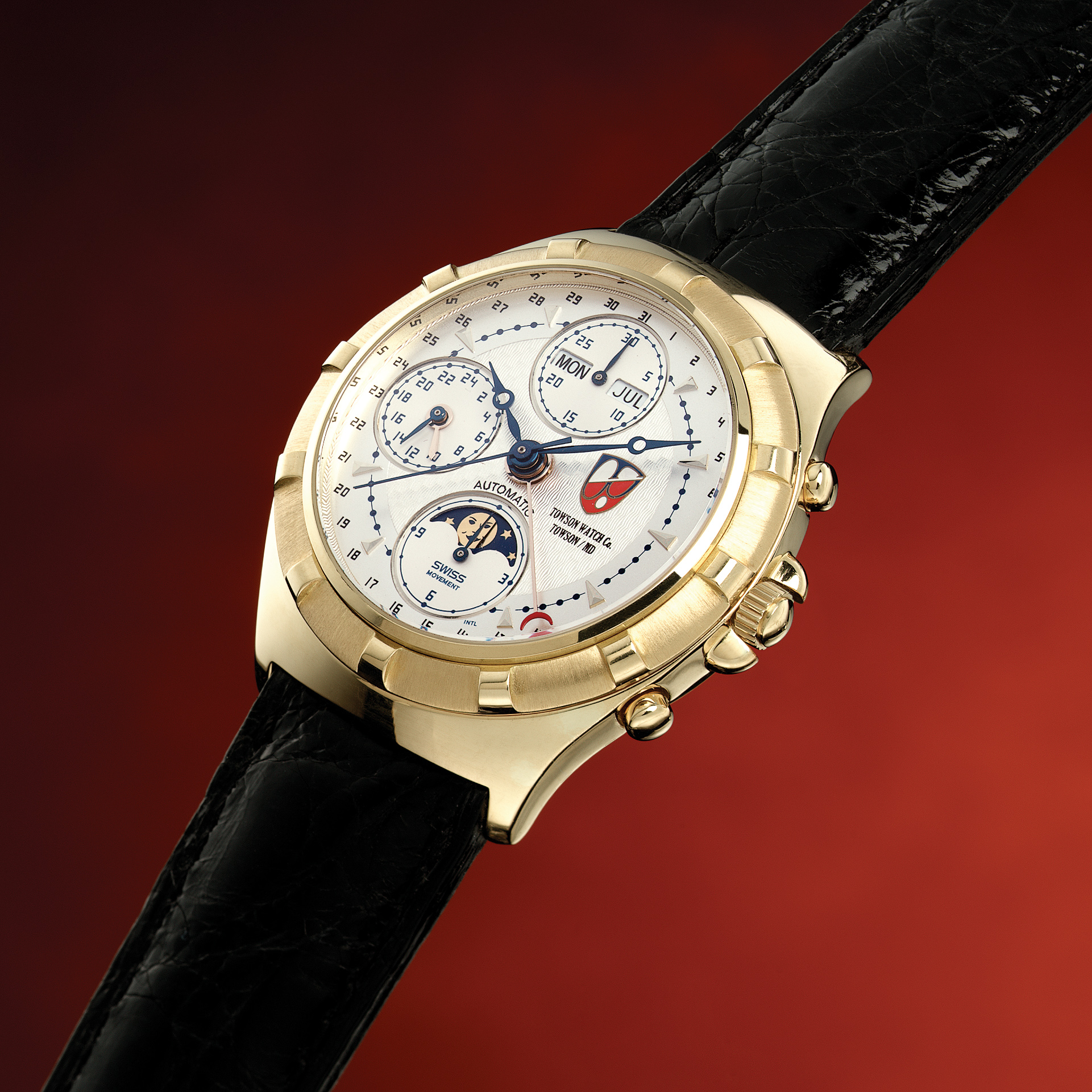 Decorative shot of a luxury Towson watch.