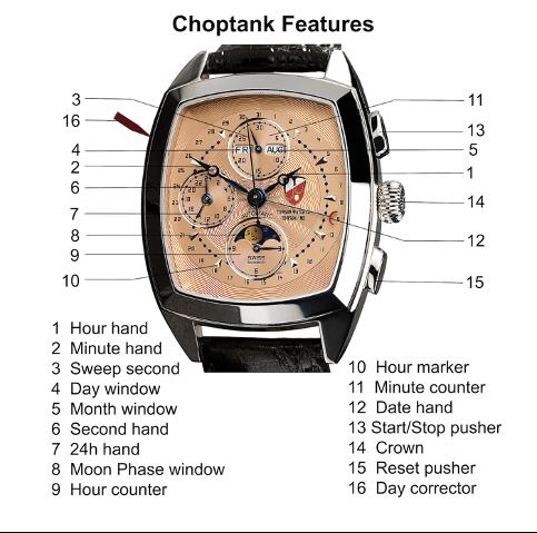 choptank watch features