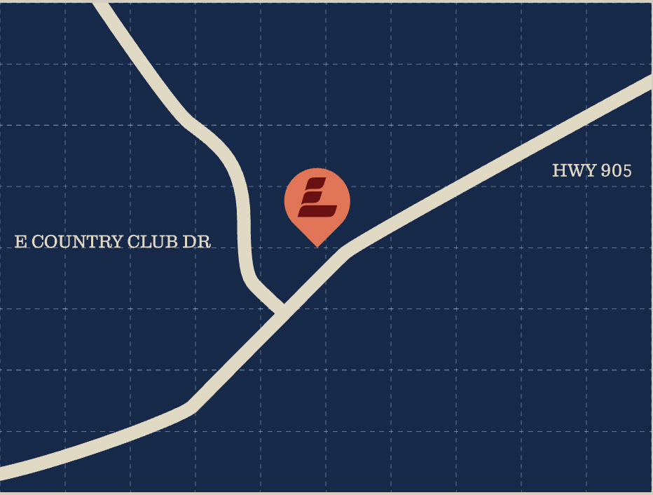 Langston Baptist Church is located off the Northside of Highway 905, just to the East of country club dr.