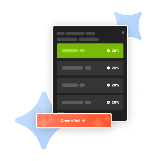 Create Polls with Live Results    Company Meets