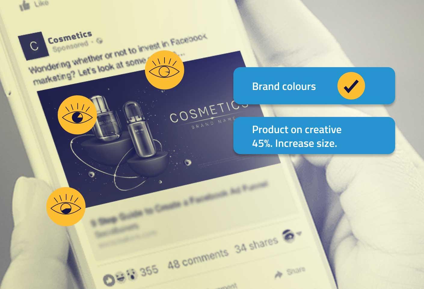 Maximum shopper attention on facebook creative