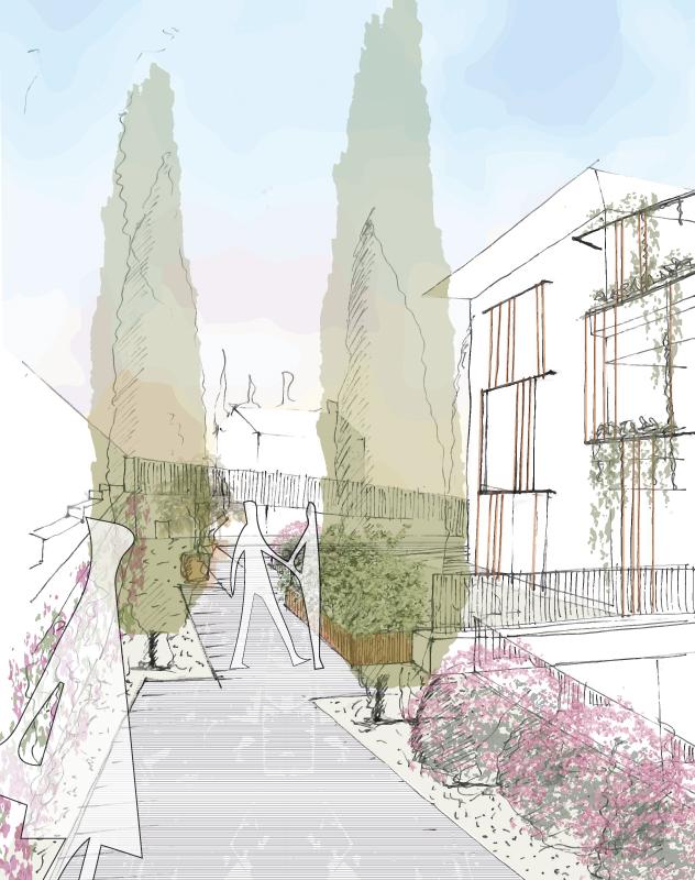 Green Villas Gardone Riviera progetto ingresso