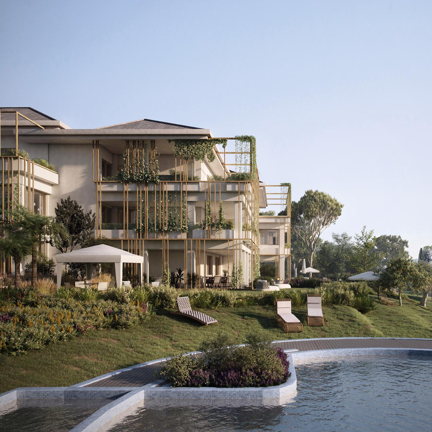 Green Villas Gardone Riviera Vista esterna