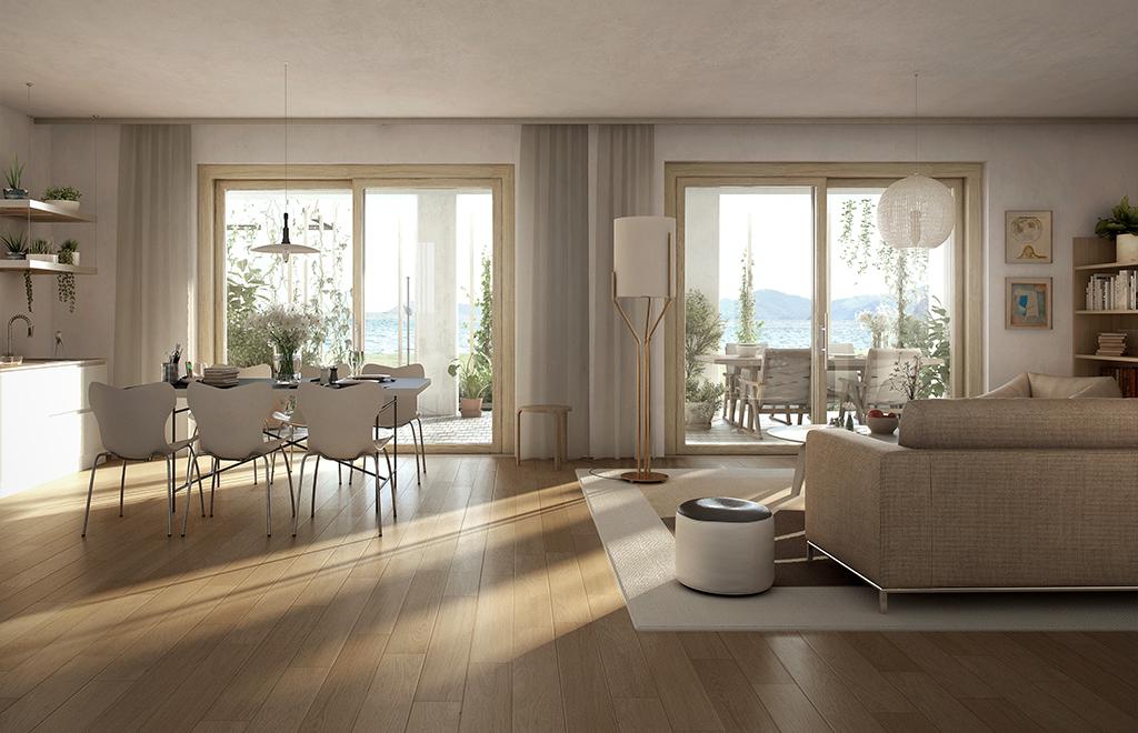 Green Villas Gardone Riviera Vista interna appartamento