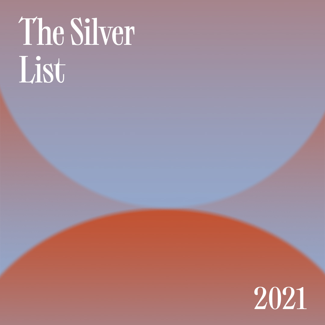 "An abstract background with the text ""The Silver List: 2021""."