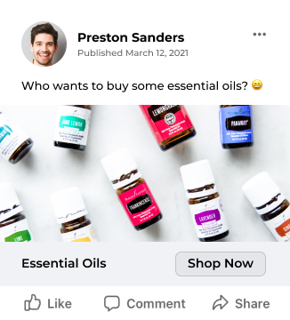 Joi essential oils post