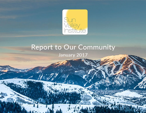 State of Resilience Sun Valley Institute for Resilience Annual Report 2016