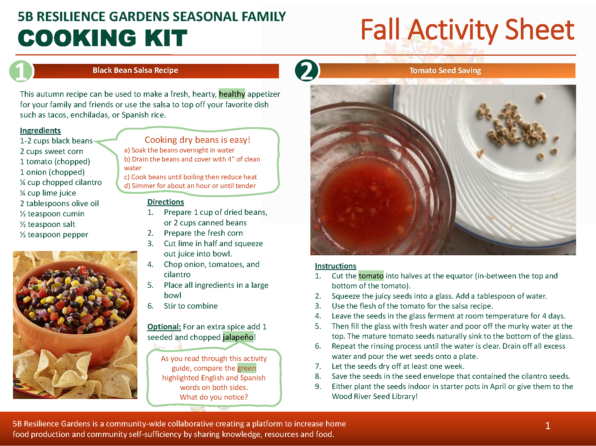 Fall SPROUT Kit for eco-literacy in the Wood River Valley.