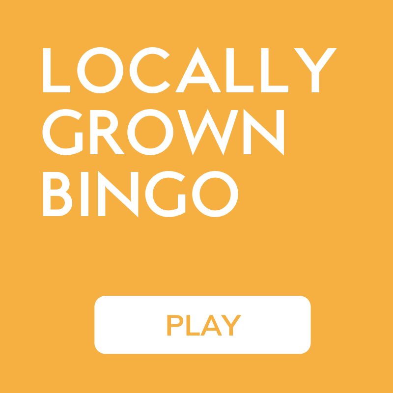 Locally Grown Bingo for Local Food in Ketchum Idaho