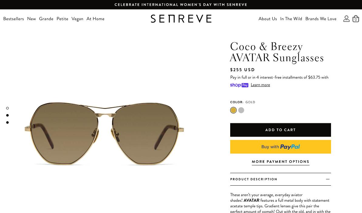 Senreve selling Coco & Breezy sunglasses
