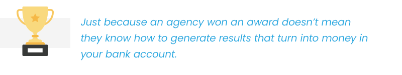 award winning agency callout