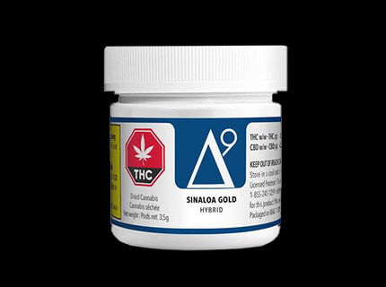 Sinaloa Gold cannabis container