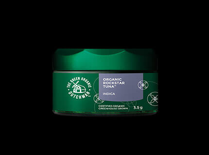 The Green Organic Dutchman dry cannabis container