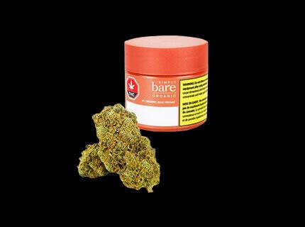 Bluedream orange cannabis container