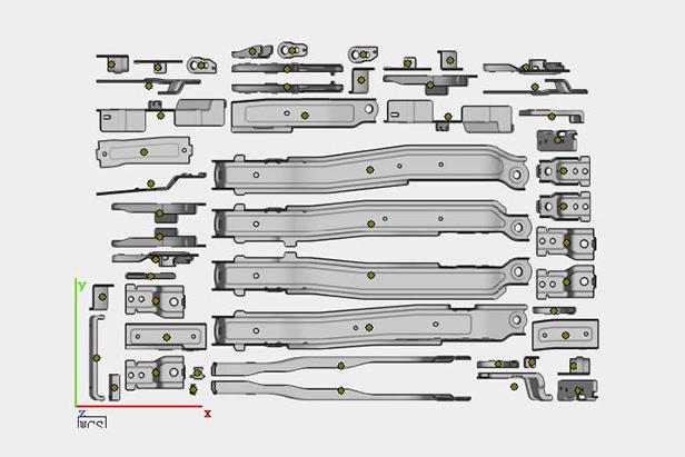 Design drawing of sheet metal parts