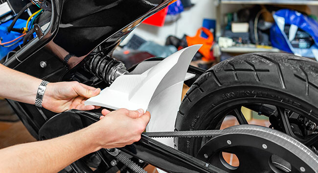 ZORTRAX 3D PRINTING Falectra Bike Spoiler