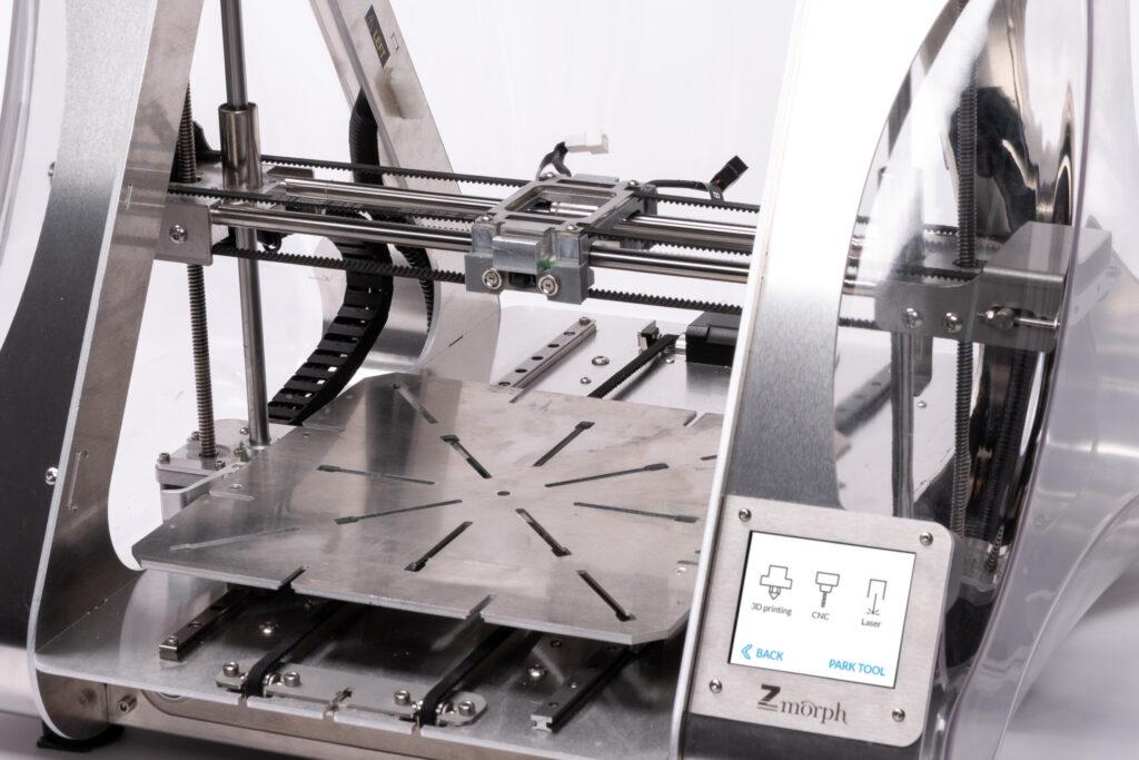 ZMorph VX CNC worktable.