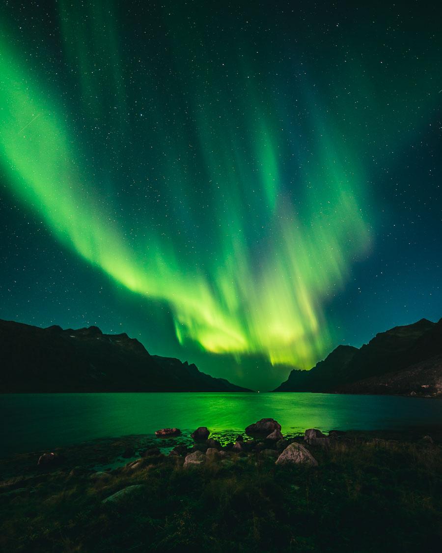 Nordlys i Ersfjorden