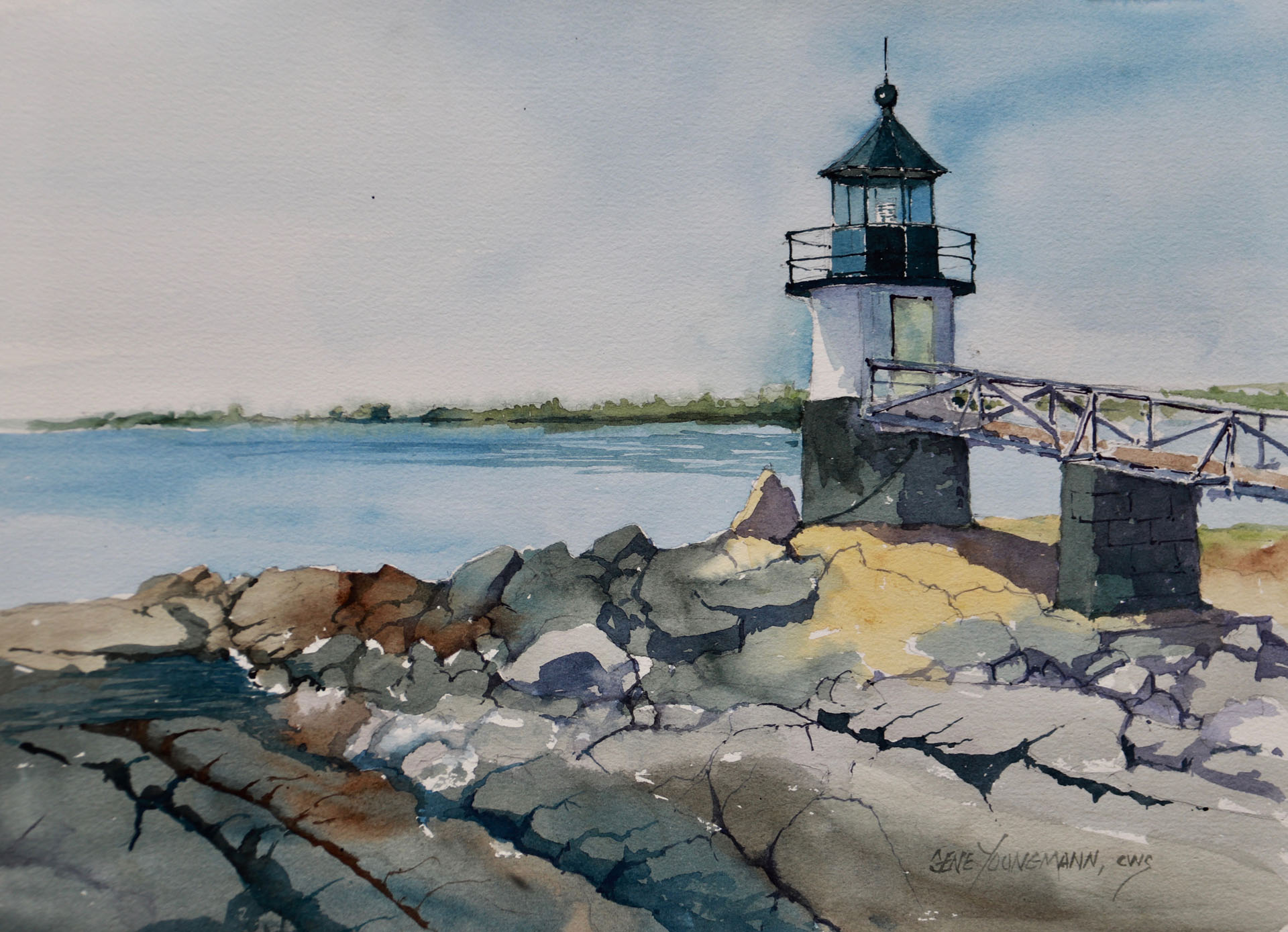 Painting #78 Marshall Point Light