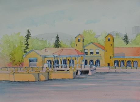 Lake House & Fountain