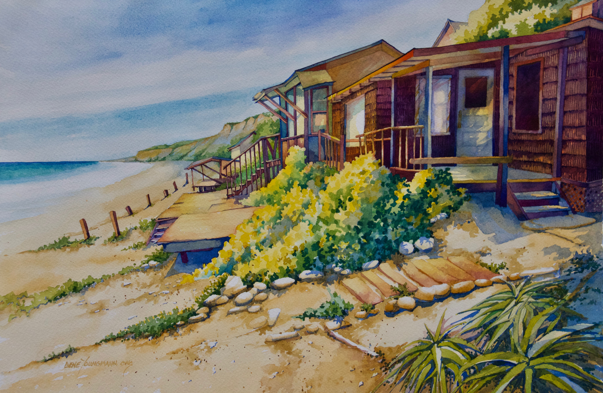 Painting #69 Beach Houses