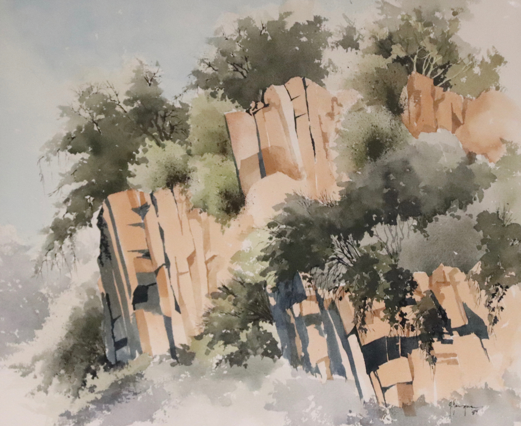 Painting #06 Golden Gate Rock Castles