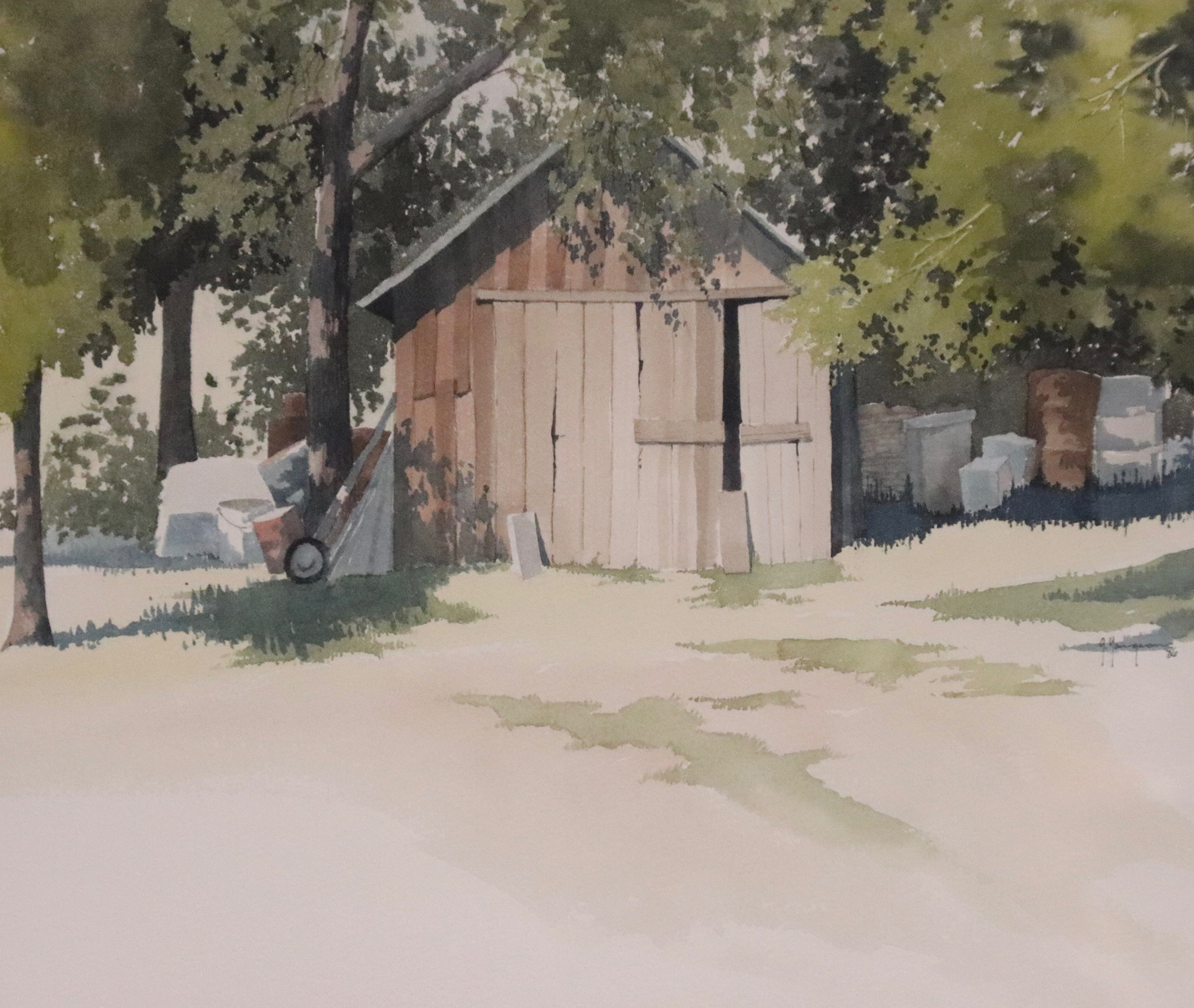 Painting #10 In The Shade Of The Garage