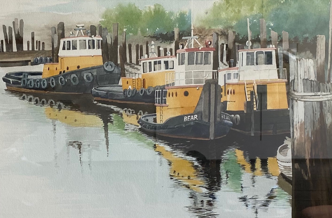 Painting #13 Bear Tugs